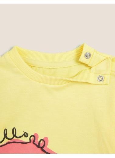 Marks & Spencer Desenli T-Shirt Sarı